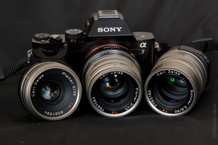 Sony A7 with Contax G lenses