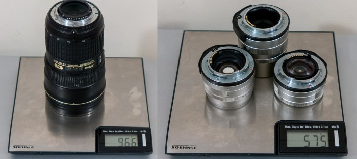 lens weight comparison